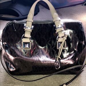 Authentic MK metallic Grayson purse